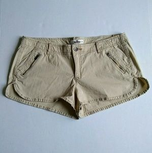 NWOT Hollister Low Rise Khaki Short Shorts